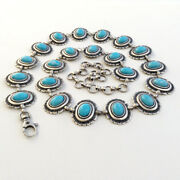 Womenand039s Navajo Style Antique Silver And Turquoise Concho Belt S/m/l- Made In Italy