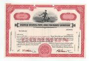 Specimen - United States Pipe And Foundry Company Stock Certificate