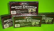 200 Regular Bill Deluxe Currency Holder Semi-rigid Holds U.s. And Other Currency