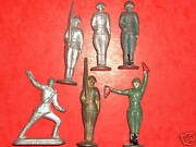 Lot Of 6 Old Sovietmade In Ussrlead Toy Soldiers