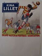 1930 Kina Lillet Football Andre Galland Fabulous Visuals Great For A Gift