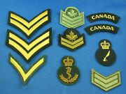 Canadian Military Badge Lot Of 10 Badges Rank Badge Insignia About New