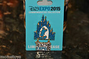 D23 Expo Exclusive Mickey Castle Logo Dangle Limited Release D23 Pin