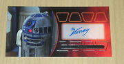 2015 Topps Star Wars Revenge Sith Widevision Kenny Baker Autograph Silver 1/15