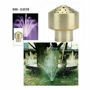 Proeco 2 Inlet Cluster Pattern Brass Professional Fountain Nozzle N108-200