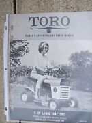 1968 Toro Lawn Tractor 5 Hp 57001 57050 Owner And Parts Manual More In Store R