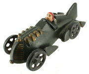 Antique Hubley Reproduction Iron Art Racecar Moveable Wheels