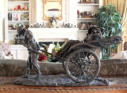 Classic Vintage Lady Woman Rickshaw Art Signed Number Limited Ed Bronze Statue
