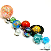Solar System Model Orrery Display Marbles Glass Planets Set - Space Science Art
