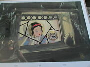 Snow White Is Anyone Home Disney Limited Edition Cel