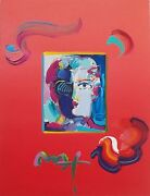 Peter Max Fauve Overpaint 2010 | Unique Mixed Media | 16x12 | Others Avail