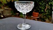 Fostoria American 4½ Footed Saucer Champagne / Sherbet - Strait Sided
