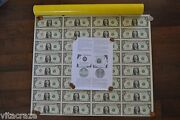 Uncut Money Sheet 32 Us 1 Dollar Notes Real Currency High Serial Number