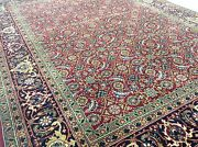 5and039 X 7and039 Red Navy Fine Oriental Area Rug Geometric Hand Knotted Office Study