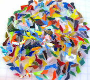 1 Pound 300 Mosaic Tiles Uneven Crazy Cut Shards Stained Glass