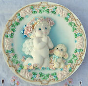 Bless Us All Dreamsicles Special Friends 1995 Angel And Lamb 3-d Plate 6.5