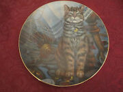 Flew The Coop Orange Tabby Collector Plate Lowell Davis Schmid Rare Cat Tales