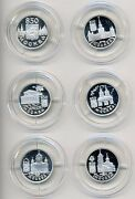 Russia Moscow 850 Anniversary 1/4 Oz Silver 1 Rouble 1997 Proof Full Set Of 6