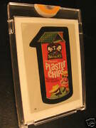 1986 Topps Wacky Packages Album Stickers 43 Plaster