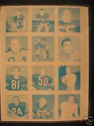 1964 Topps Wheaties Stamps Uncut Proof Sheet Tittle