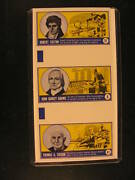 1962 Topps Famous Americans 3-stamp Uncut Proof Strip 8