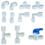 Lot 10 Union Fitting Ball Valve Quick Connect Tee Elbow Parts Pack Plumbing Use
