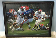 University Of Alabama Rebirth In The Swamp Framed Canvas Print By Daniel Moore