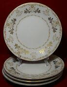 Harmony House China Classique Gold Pattern Salad Plate - Set Of Four 4 7-3/4
