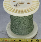 Gudebrod Buttwind Custom Fishing Rod Winding Wrap Green And White Entire Spool 1