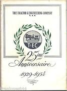 The Tractor And Engineering Company T.e.c. S.a.e. 25andegrave Anniversaire 1929-1954
