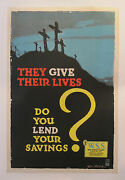 1918 Original American World War One Poster - They Give Their Lives - Welsh