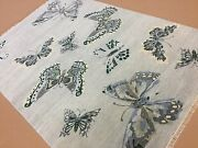 6and039 X 9and039 Silver Butterfly Modern Oriental Area Rug Hand Knotted Wool Foyer