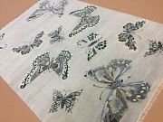 6' X 9' Silver Butterfly Modern Oriental Area Rug Hand Knotted Wool Foyer