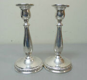 Pair International Prelude Sterling Silver 7.5 Candlesticks Weighted