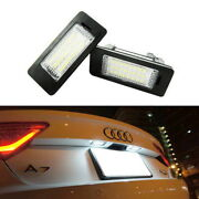 Oem-replace Error Free Led License Plate Lamps For Audi A1 A5 A6 Vw Jetta Passat