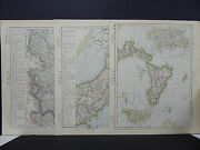 Antique Map, Lett's, 1883 Italy, 3 Maps R784