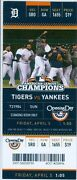 2013 Tigers Vs Yankees Ticket Opening Day Fielder Belts Two Home Runs