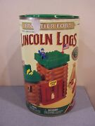 Original Wooden Lincoln Logs Frontier Fort Not Complete Set Missing Flags Canoe