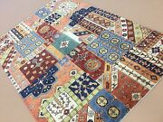 6'.0 X 8'.7 Multicolor Fine Oushak Oriental Area Rug Hand Knotted Wool Foyer
