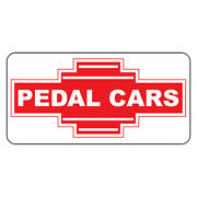 Pedal Cars Red Retro Vintage Style Metal Sign - 8 In X 12 In With Holes