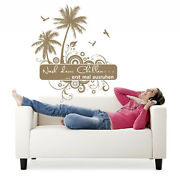 Wall Tattoo After Chilling Erst Times Ausruhen - Palm Trees Birds Stickers