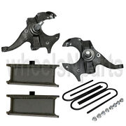 Spindles And Steel Blocks Suspension Lowering Kit 2 Front 3 Rear For Chevy S10