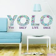 Wall Tattoo Yolo - You Only Live Once Lifestyle Wall Stickers