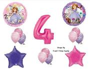 Sofia The First Fourth 4th Happy Birthday Party Balloons Decorations Supplies