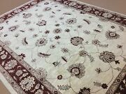 9and039 X 12and039 Gold Red Fine Oushak Oriental Area Rug Hand Knotted Wool All-over