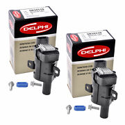 Set Of 2 Delphi Ignition Coil Gn10119 For Chevrolet Gmc Cadillac 1999-2007