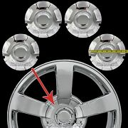 4 New 03-07 Silverado 20 Chrome Wheel Center Hub Caps Hubs 6 Lug Nut Rim Covers