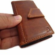 Genuine Leather Hard Case For Samsung Galaxy S4 Mini I9190 S 4 Book Wallet Cover