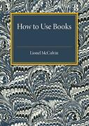 How To Use Books By Lionel Mccolvin English Paperback Book Free Shipping