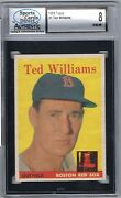 1958 Topps Ted Williams 1 Scd 8 Nm-mt Mlb Hall Of Fame 774